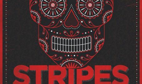 White Stripes Skull Poster - 海报设计