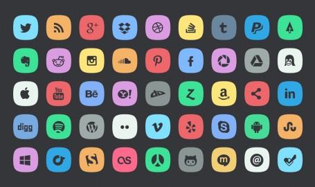 45 Subtle Social Icons - 社会化图标设计