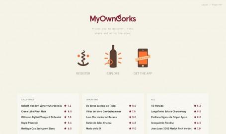 My Own Corks - 网页设计