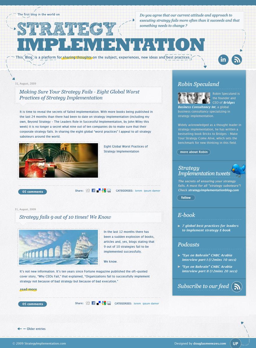 Strategy Implementation Blog