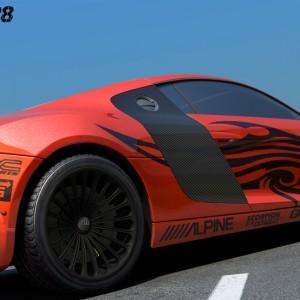 Audi R8 - 3D图形设计