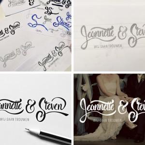 Jeannette & Steven - 活版印刷婚纱馆邀请卡