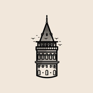 istanbul galata tower - 图形设计