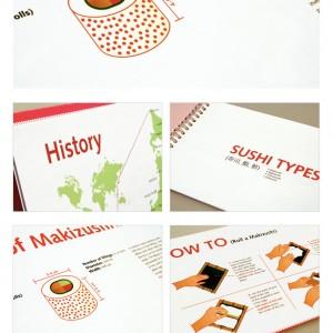 The Sushi Handbook - 寿司手册信息图表设计