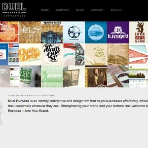 Duel Purpose - 格子布局网页设计