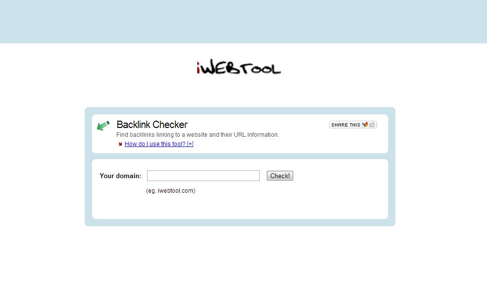 iWEBTOOL Backlink Checker – 网页回链检测工具