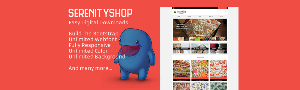 Serenityshop – EDD – Easy Digital Downloads Theme – WordPress电商主题模板