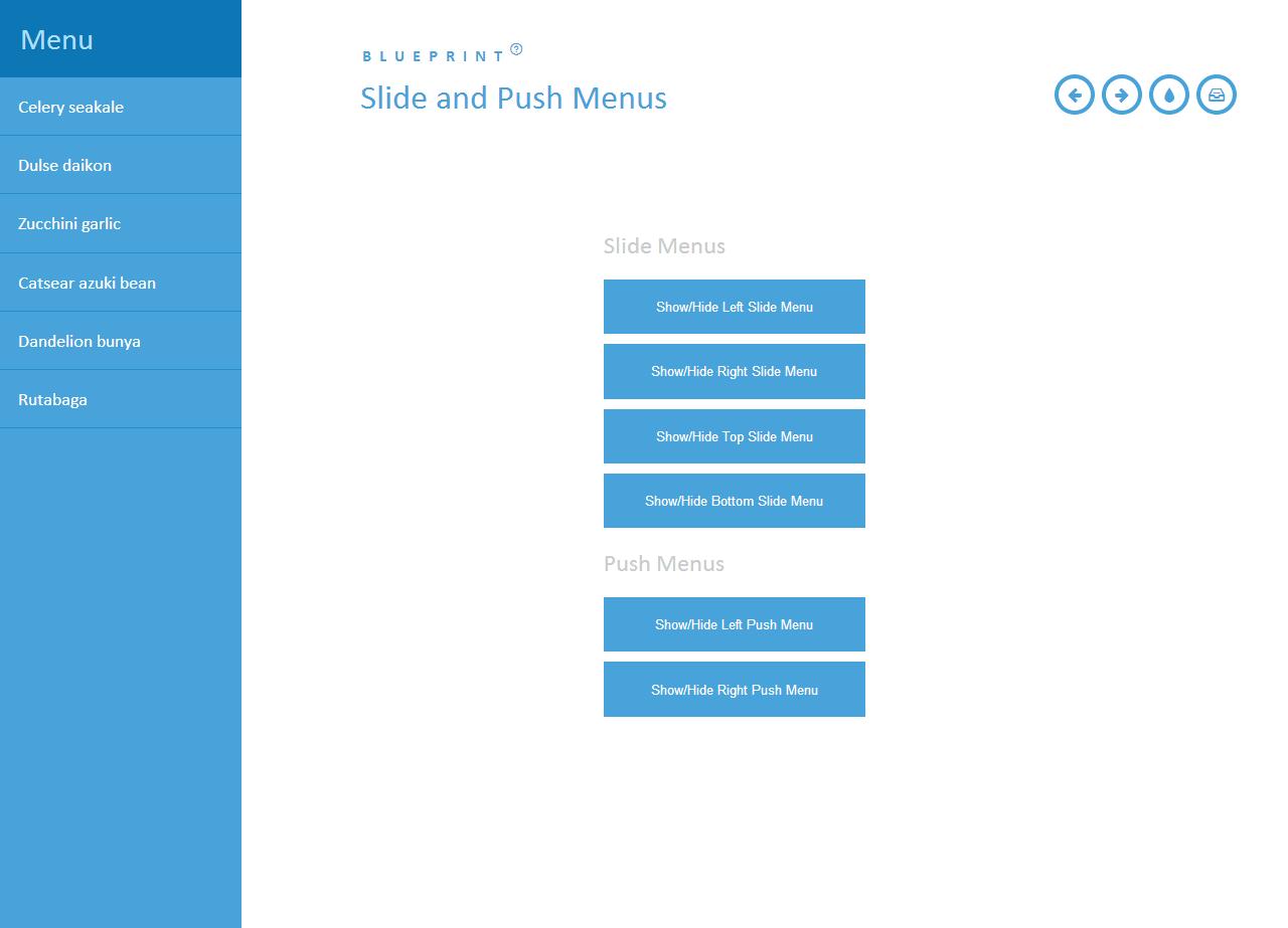 BLUEPRINT Slide and Push Menus – 响应式菜单插件 - 任刚 · Ren Gang 世界设计 · 设计世界