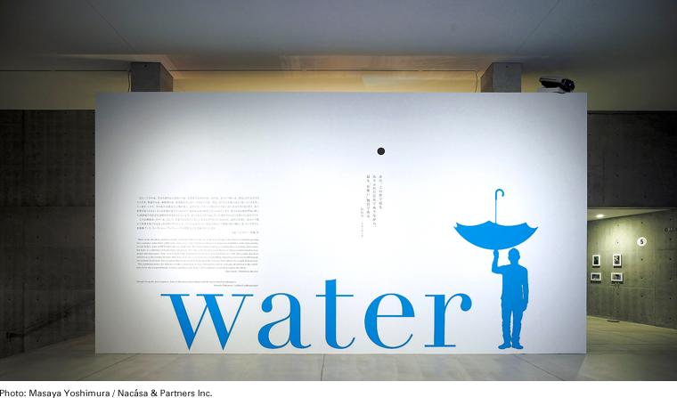 """佐藤 卓(SATOH Taku)第二届21_21 DESIGN SIGHT展佐藤卓展馆 """"water"""" VI、海报及场馆设计"""
