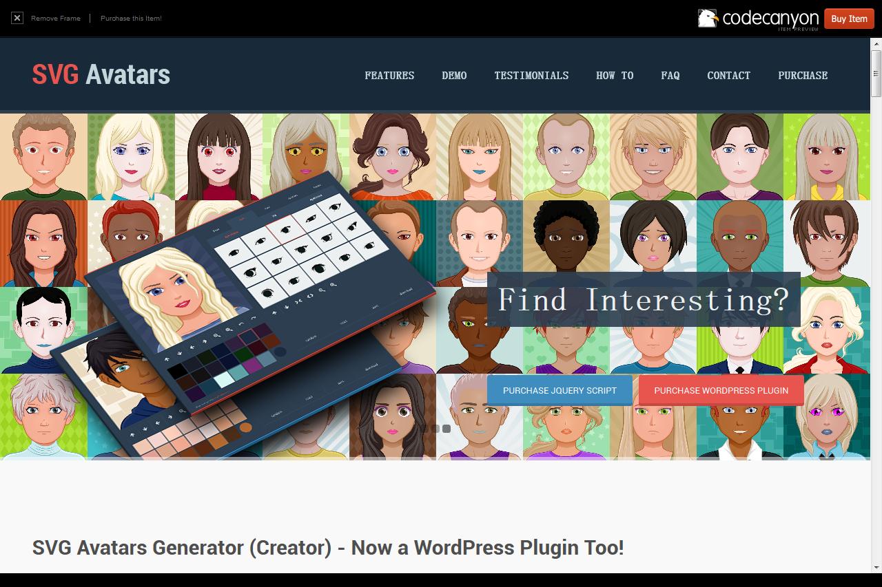 头像插件 SVG Acatars – Generator jQuery Integrated Script - 任刚 · Ren Gang 世界设计 · 设计世界