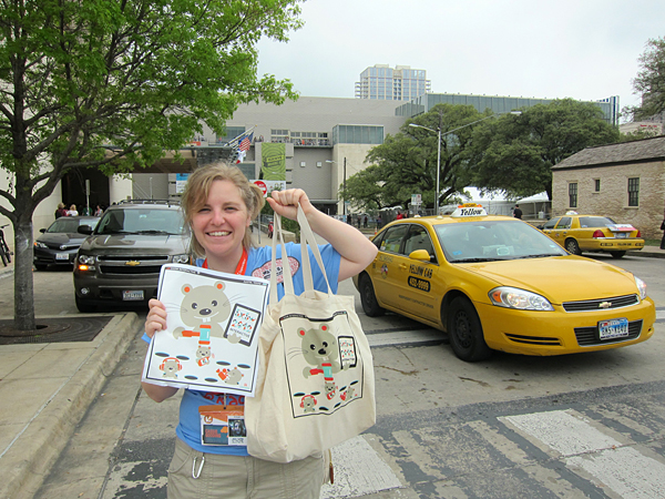 环保袋设计 – Big Bag Art for SXSW Interactive Festival - 任刚 · Ren Gang 世界设计 · 设计世界