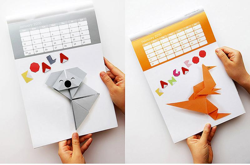 Aussigami Origami Animal Calendar – 国外设计公司创意动物折纸挂历设计 - 任刚 · Ren Gang 世界设计 · 设计世界