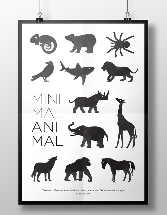 Minimal Animal Identidad – 国外设计师的动物剪影图形设计案例