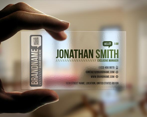 国外精品名片设计案例欣赏 – Transparent Business Card