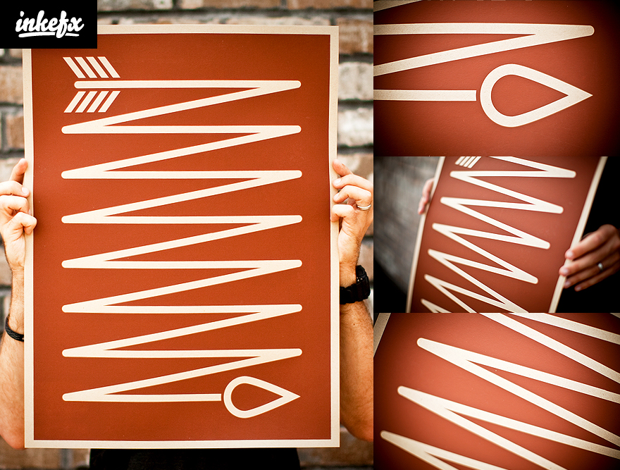国外设计的海报设计作品 – Inkefx Arrow Print