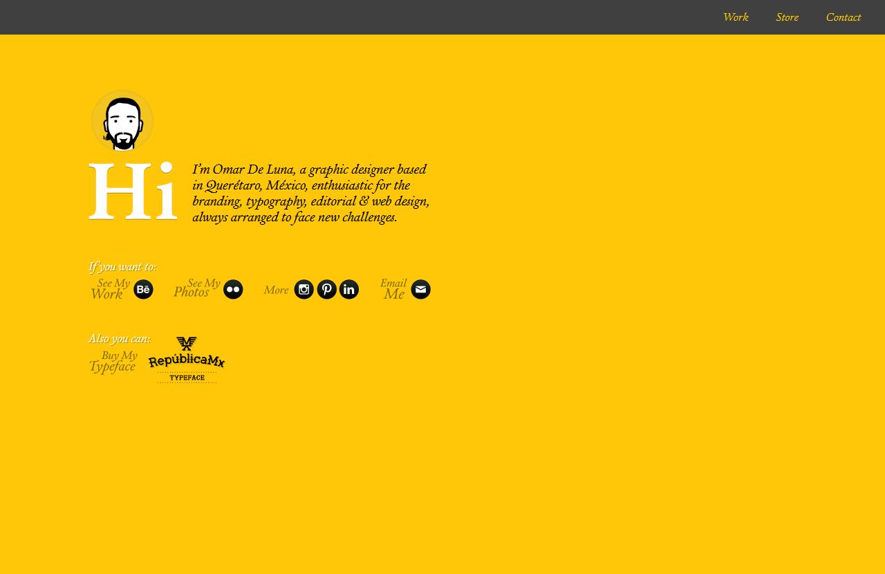 设计师个人主页 Omar De Luna | Designer