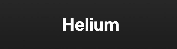Helium – 又一款响应式前端开发框架