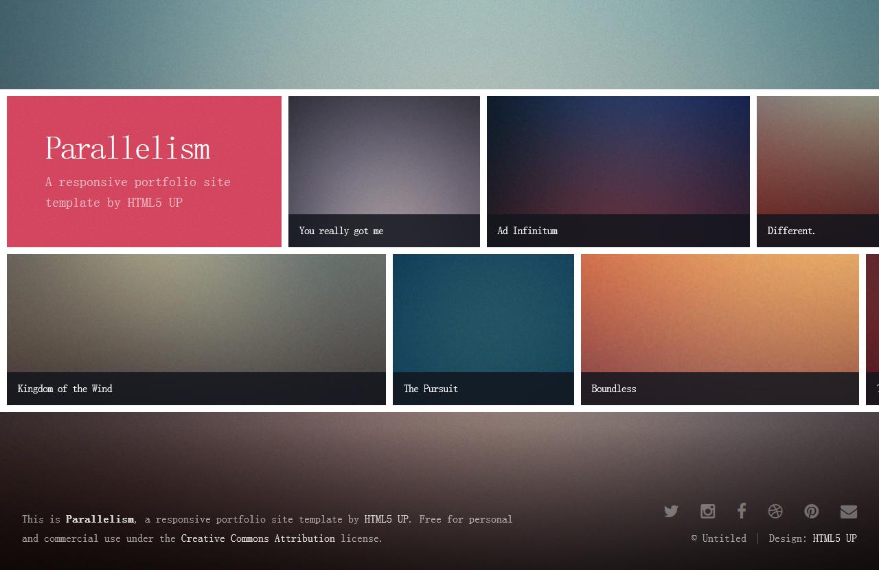 Parallelism – 又一个响应式网页主题免费下载 - 任刚 · Ren Gang 世界设计 · 设计世界