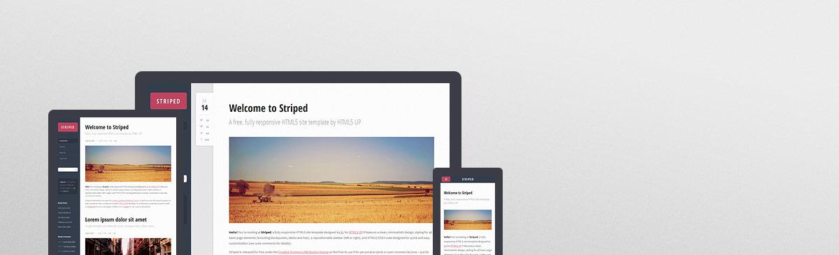 Striped – 又一款完全响应式HTML5网站模板免费下载 - 任刚 · Ren Gang 世界设计 · 设计世界