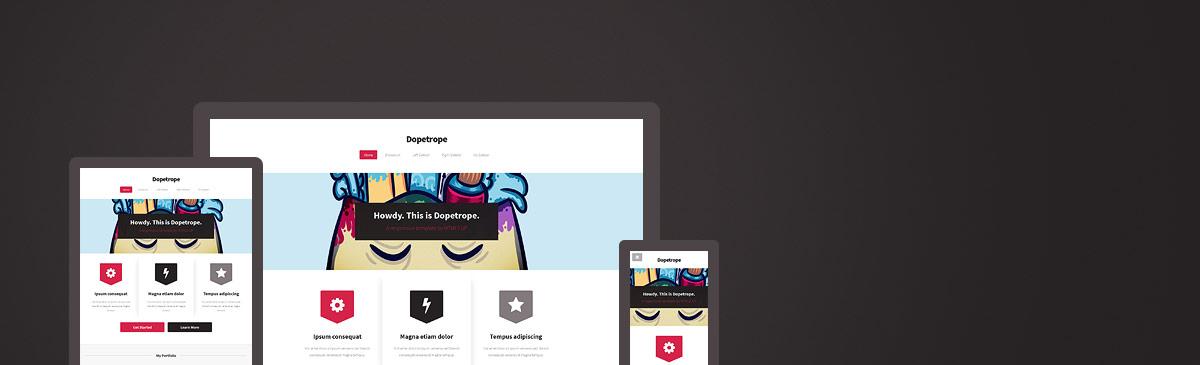 Dopetrope – 又一款响应式HTML5网页主题模板免费下载