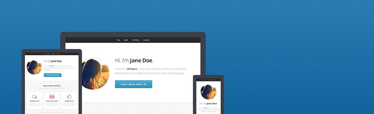 Miniport – 又一款响应式HTML5主题模板免费下载