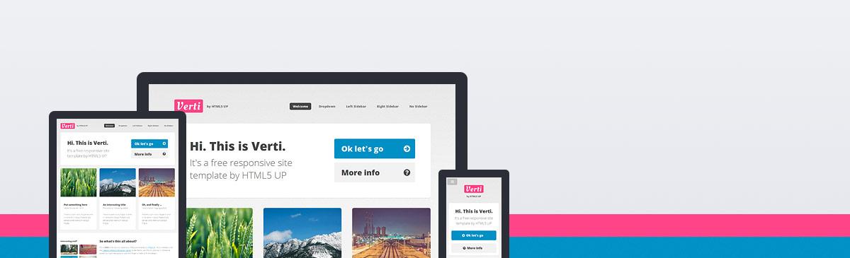 Verti – 又一款HTML5响应式网页主题模板免费下载