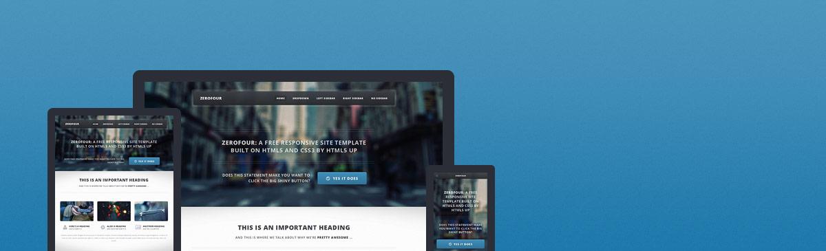 Zerofour – 又一款HTML5响应式网页主题模板免费下载