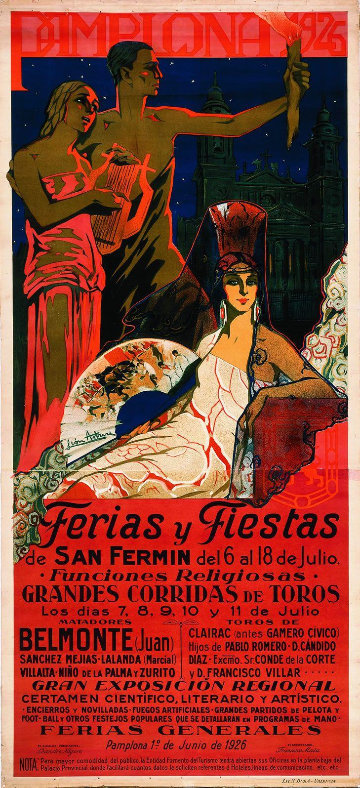 盘点:西班牙奔牛节历年海报设计 – San Fermin Poster - 任刚 · Ren Gang 世界设计 · 设计世界