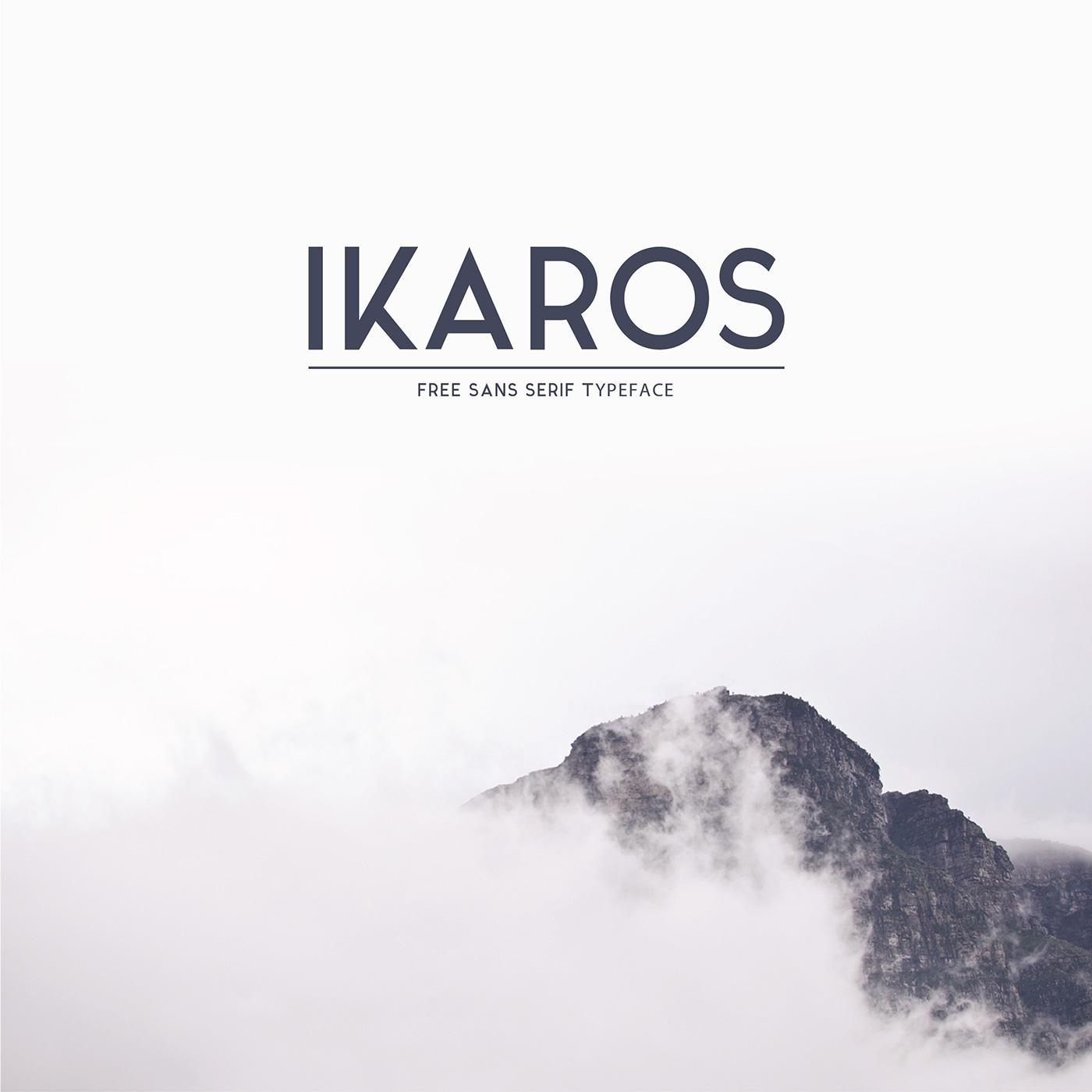 IKAROS Free Typeface – 字体设计欣赏