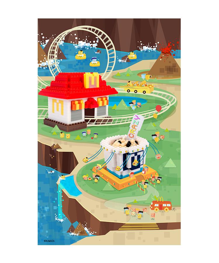 麦当劳 X nanoblock 系列创意海报设计欣赏 - 任刚 · Ren Gang 世界设计 · 设计世界