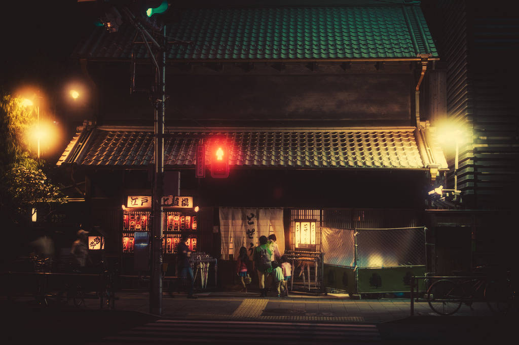 日本东京街头霓虹夜景,来自摄影师 Masashi Wakui