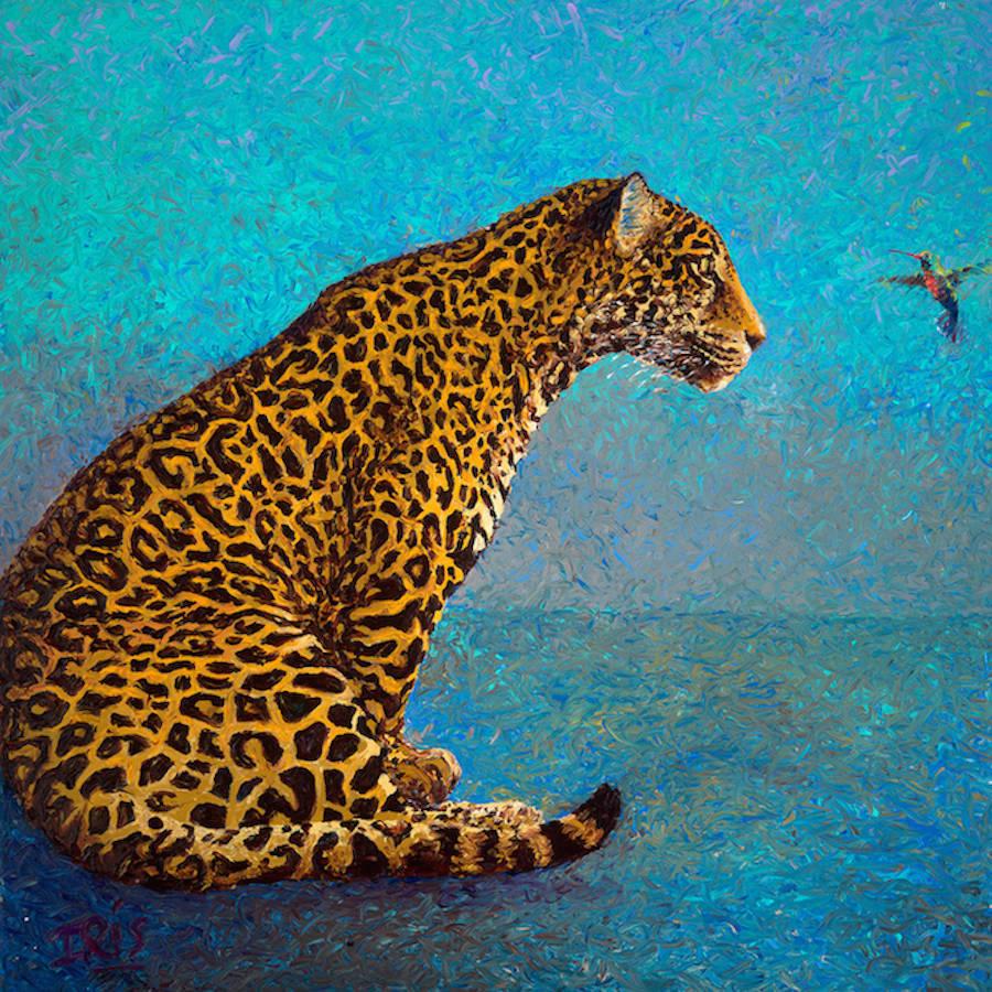 艺术家 Iris Scott 手指油画作品欣赏