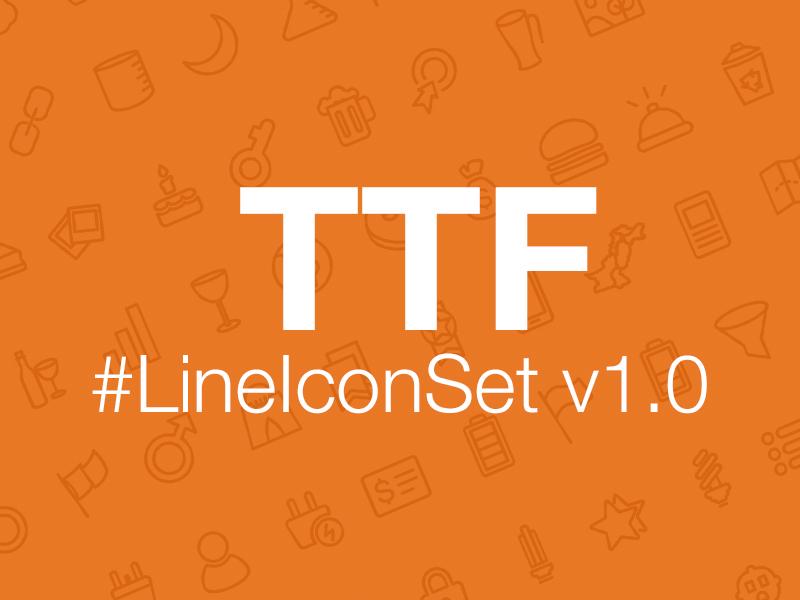 又一个免费的线性图标字体 – LineIconSet v1.0 Font Free