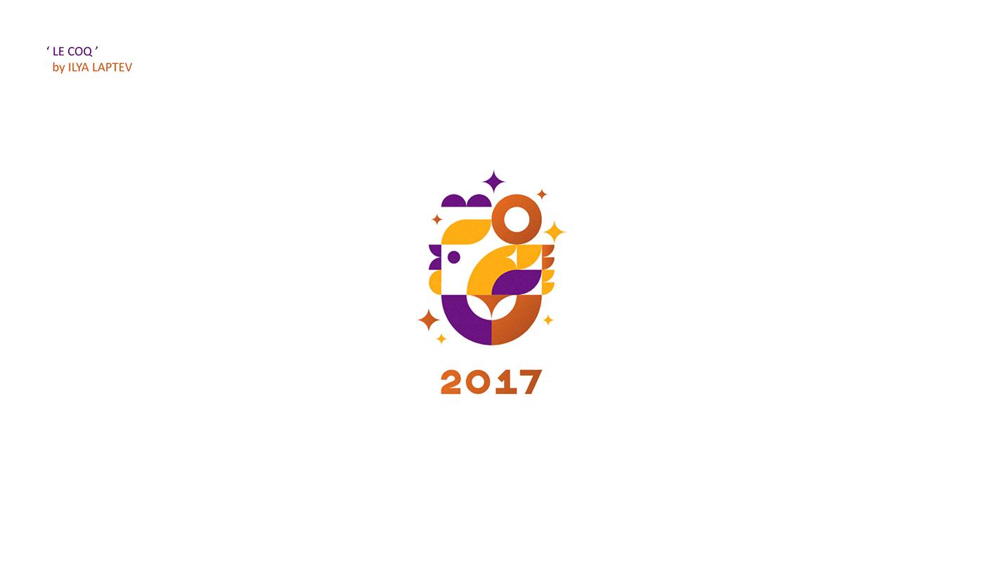 "Chicken Logo Design – 与""鸡""元素有关的LOGO设计 - 任刚 · Ren Gang 世界设计 · 设计世界"