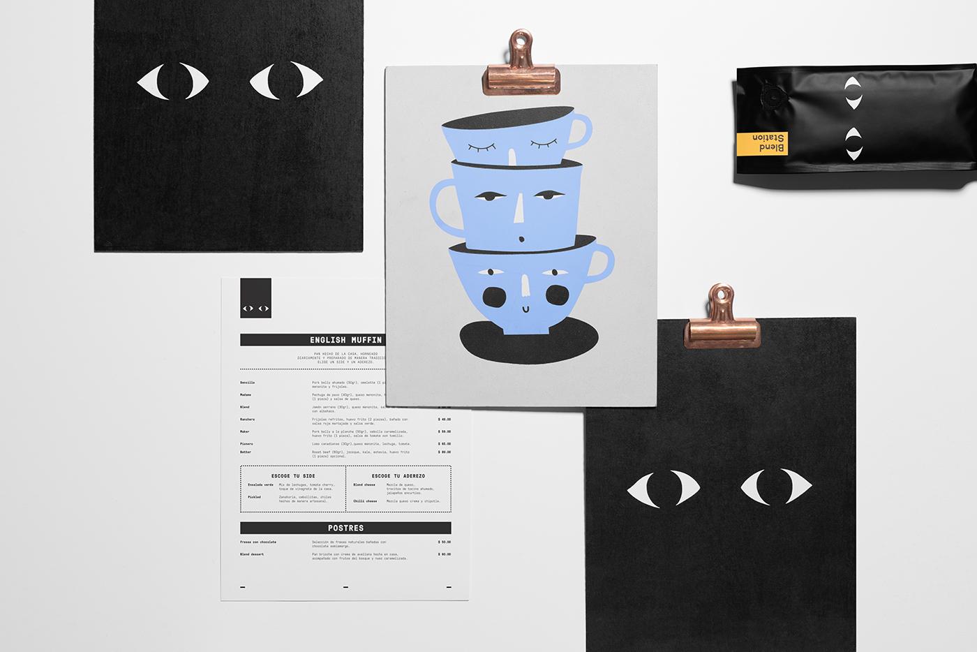 Blend Station 咖啡店品牌设计欣赏,所属类别:VIS设计、餐饮、咖啡店 - 任刚 · Ren Gang 世界设计 · 设计世界