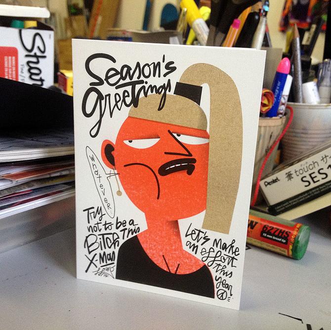 Greeting Cards – 国外设计师贺卡插图设计作品欣赏 - 任刚 · Ren Gang 世界设计 · 设计世界