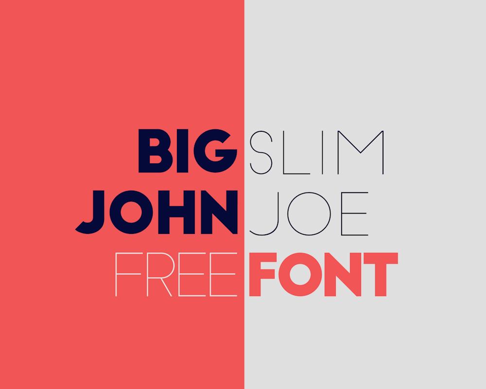 Big John / Slim Joe – FREE Font – 一款优秀的免费字体