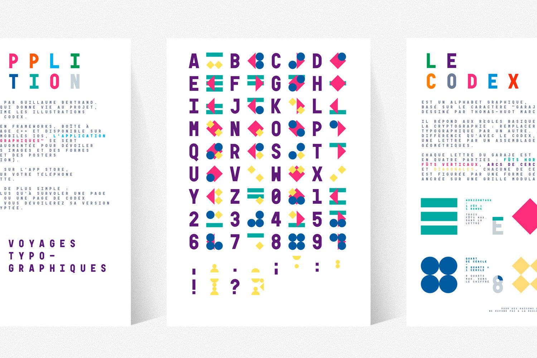 Les Voyages typo-graphiques de Jules Verne 旅行品牌字体定制设计欣赏,所属类别:扁平化设计、字体设计