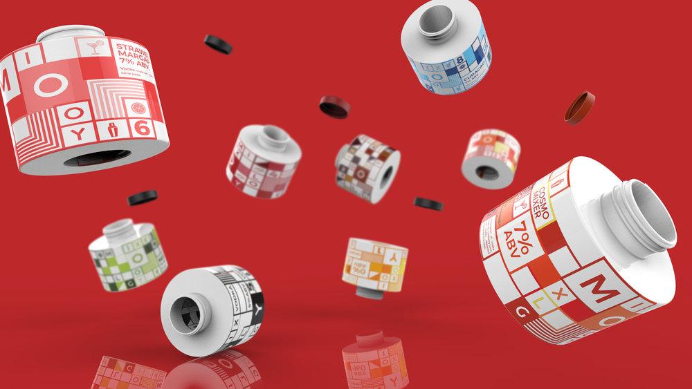 MIXOLOGY 个性定制鸡尾酒饮料产品形象及包装设计欣赏,所属类别:包装设计、消费品、饮料、酒 - 任刚 · Ren Gang 世界设计 · 设计世界