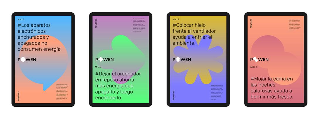 POWEN 西班牙新型太阳能服务品牌识别设计,所属行业:能源、化工 - 任刚 · Ren Gang 世界设计 · 设计世界