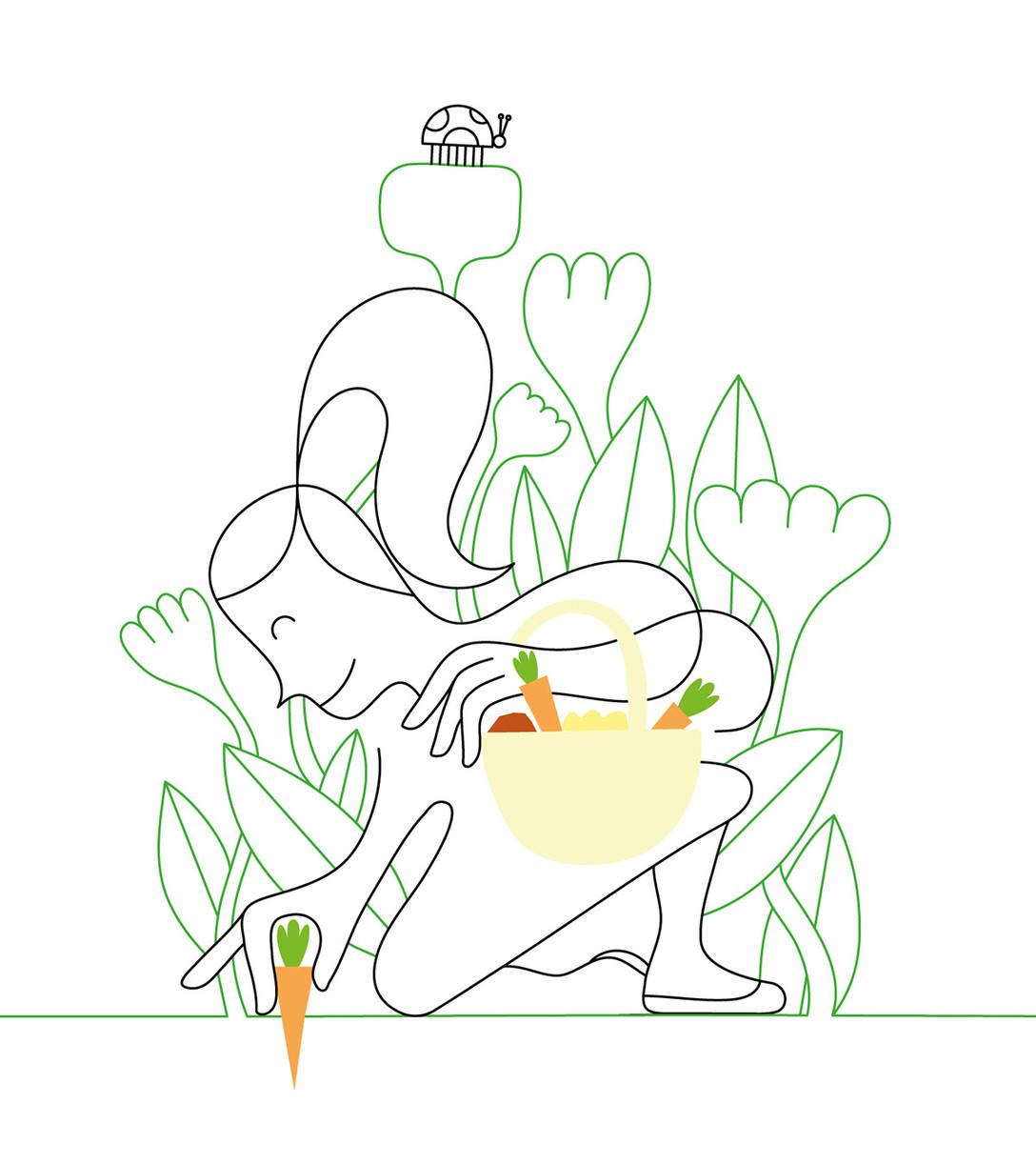 任刚 Ren Gang 整理分享 世界设计 设计世界 国外产品包装插画设计欣赏 – a nature connection -NOWPLANTING,类别:插画、包装、生鲜、水果