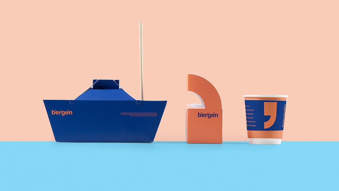 茶饮品牌 Bergen/Shrimps and seafood 视觉识别系统VIS/包装设计欣赏