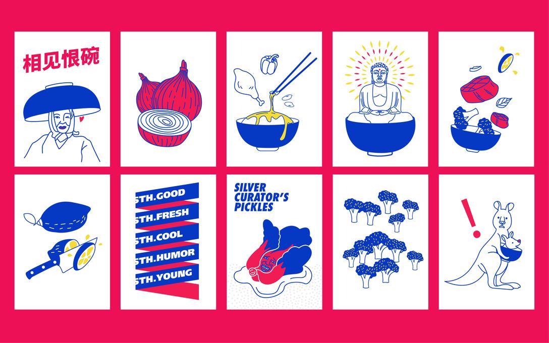 苏州餐饮品牌 Sth. Bowl 品牌视觉识别系统VIS设计欣赏 - 任刚 · Ren Gang 世界设计 · 设计世界
