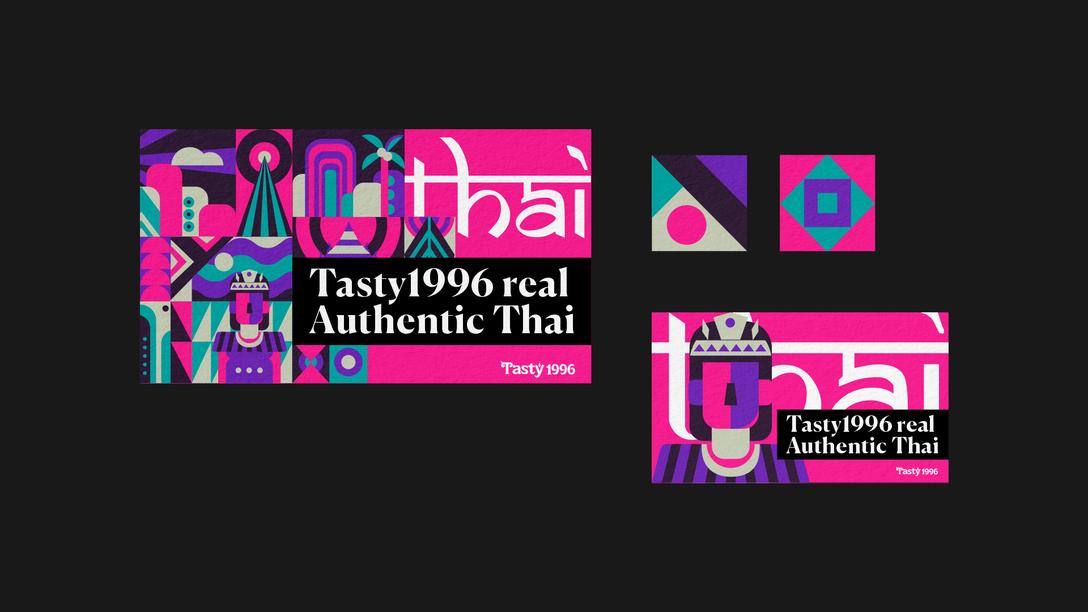 泰式餐厅品 Tasty1996 品牌VIS视觉识别系统设计欣赏 - 任刚 · Ren Gang 世界设计 · 设计世界